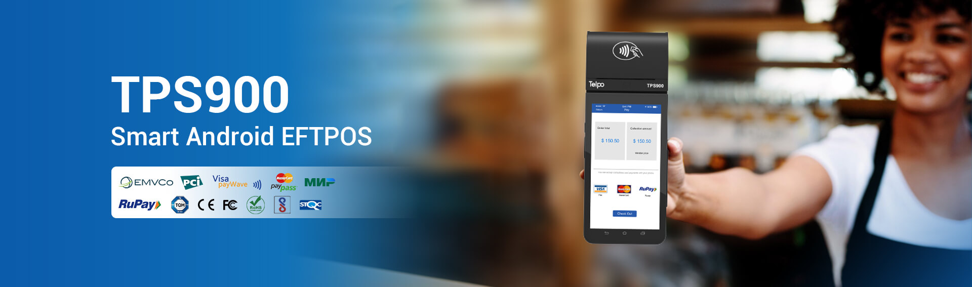 Android EFTPOS Telpo TPS900 Rupay EMV PCI