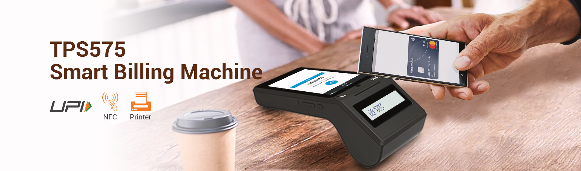 Smart POS Billing Machine with Barcode Scanner