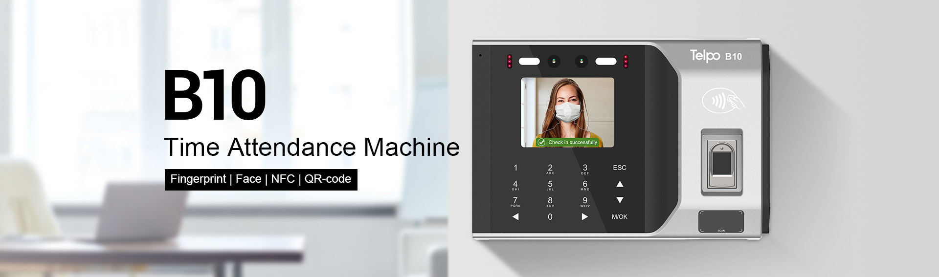 Time Attendance and Access Control Machine with Face recognition and Fingerprint reader