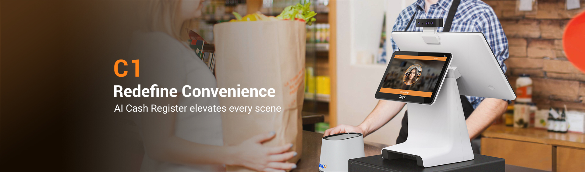 Telpo C1 Face and Voice Recognition AI POS Register