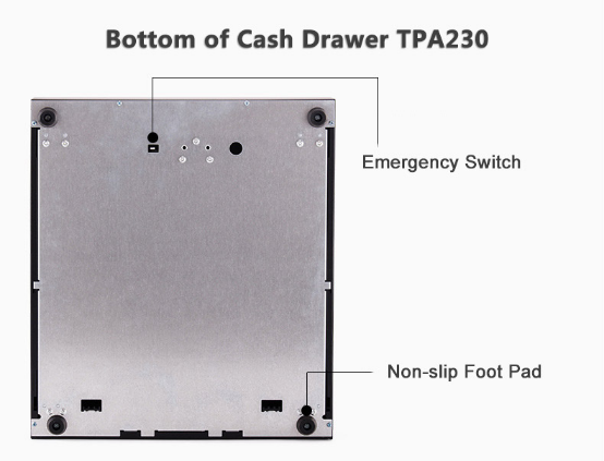 Stainless Steel POS Cash Drawer With Removable Cash Tray TPA230