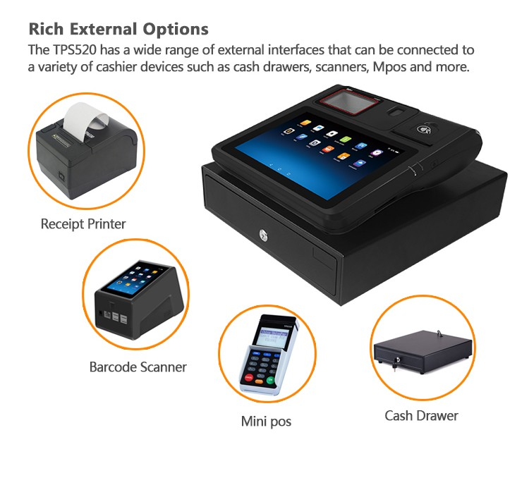 10-Inch Android All-in-one Desktop Pos Terminal