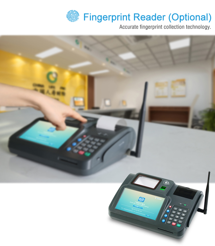 All-in-one Desktop POS with Keypad Antenna