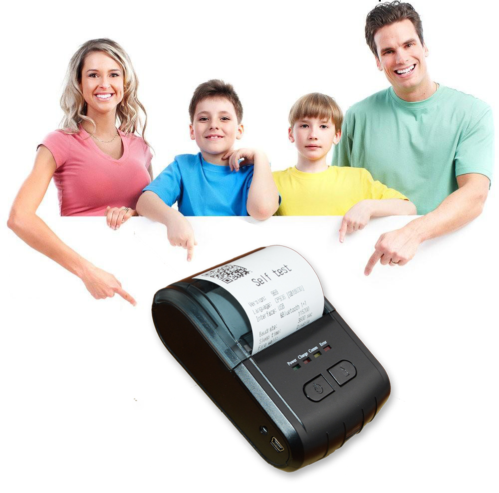 Handheld Wireless Bluetooth 58mm Pocket Bluetooth USB Printer TPA310