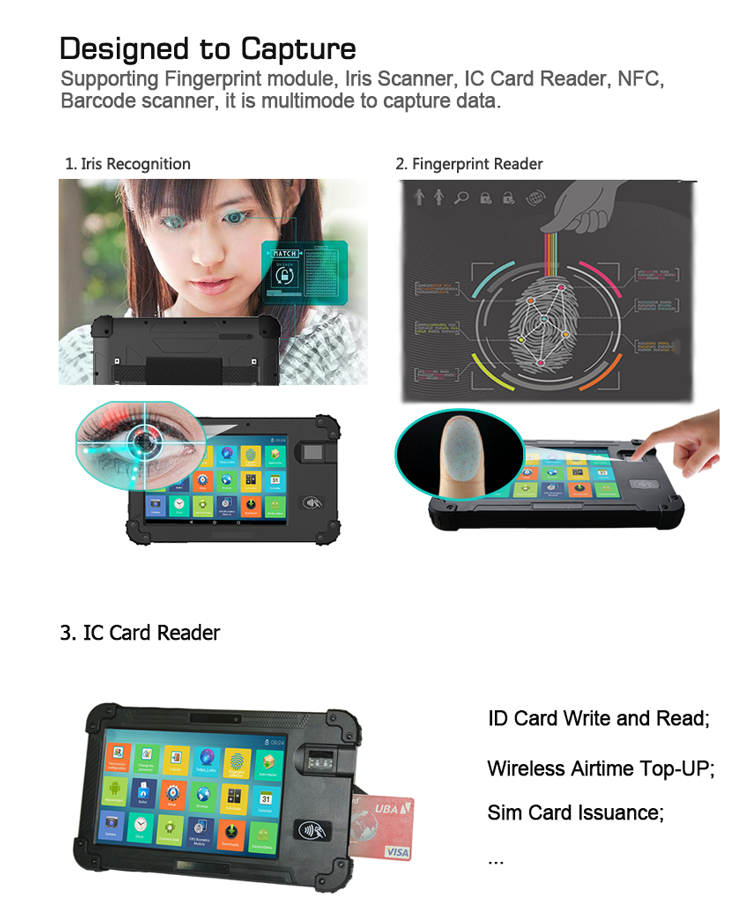 Android Biometric Tablet POS