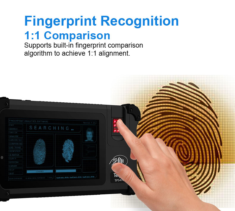 7-inch Rugged Biometric Tablet