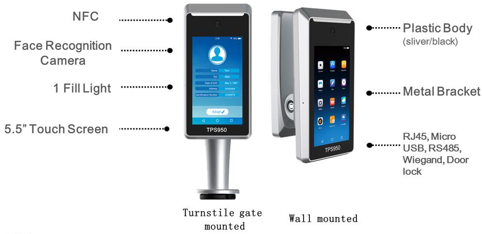 5.5-Inch Biometric Facial Recognition Machine