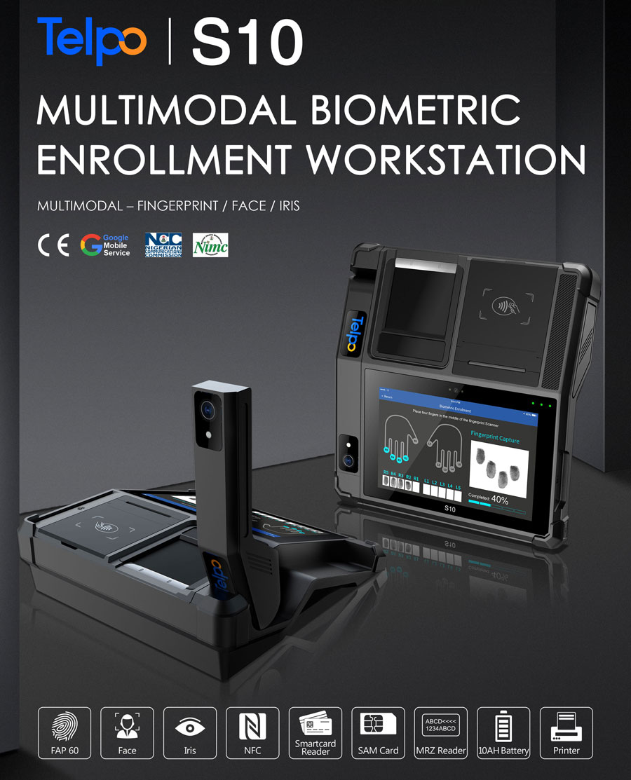Telpo Biometric Device S10 Assist Quickly and Safely SIM Card Registration