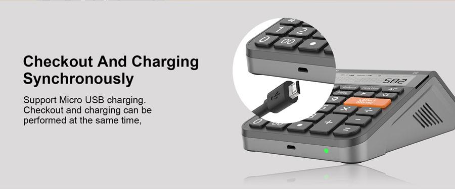 Wireless Numeric Keypad Mini Cash Register Calculator