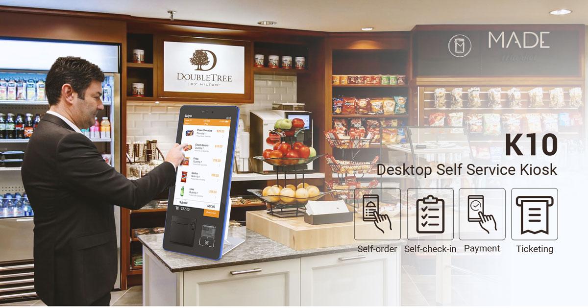 Desktop Face Recognition Mini Retail Kiosk