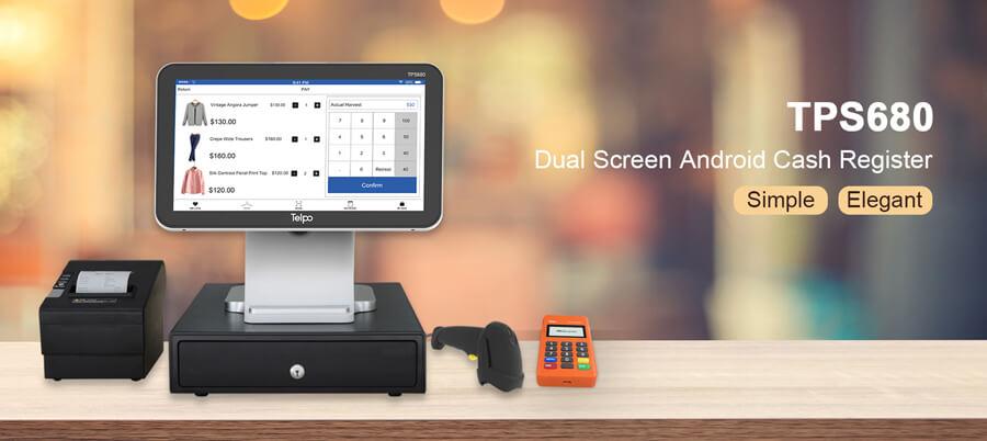 Android Cash Register Billing Machine TPS680