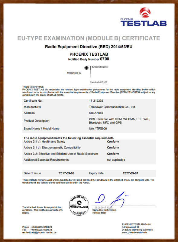 TPS900_CE-RED-Certificate