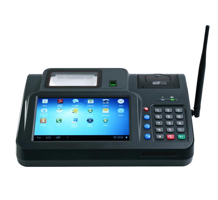 Desktop Barcode Scanner POS Machine with keypad antenna