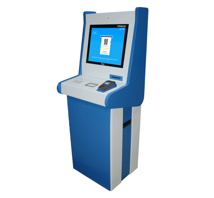19 inch Touch Screen Self Service Ticketing Kiosk Machine