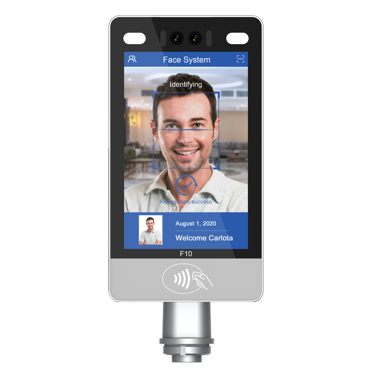 10-inch AI Face Recognition Attendance and Access Control